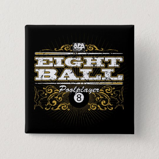 8 Ball Vintage Design Pinback Button