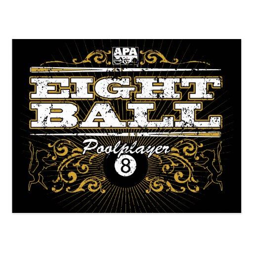 8 Ball Vintage Design Postcard