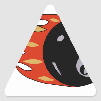 8 BALL W FIRE (4-1 4 inch) PATCH Triangle Stickers