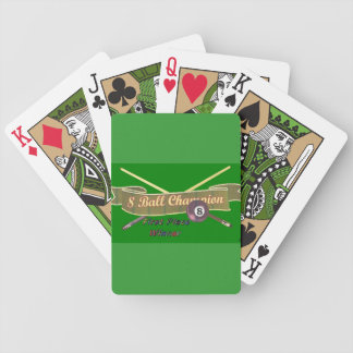 8-ball winners cup bicycle playing cards
