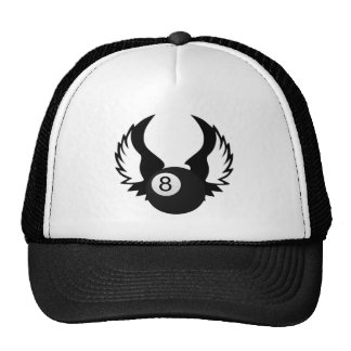 8 Ball with wings Trucker Hat
