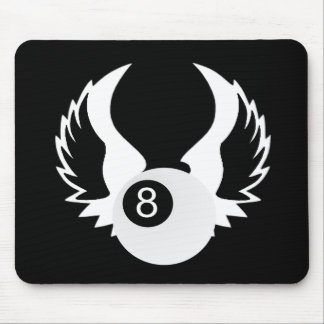 8 Ball with wings Mouse Pad