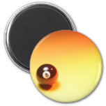8 Ball Yellow Background Magnets