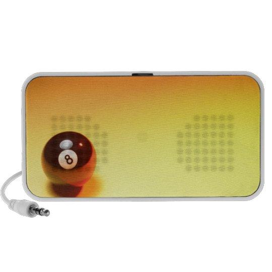 8 Ball Yellow Background Mini Speaker