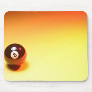 8 Ball Yellow Background Mouse Pad