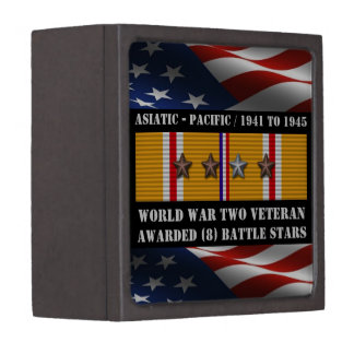 8 BATTLE STARS WWII Asiatic Pacific Veteran Gift Box