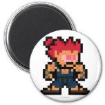 8-Bit Akuma 2 Inch Round Magnet