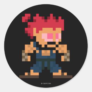 8-Bit Akuma Classic Round Sticker