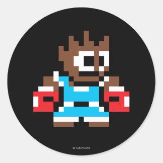 8-Bit Balrog Classic Round Sticker