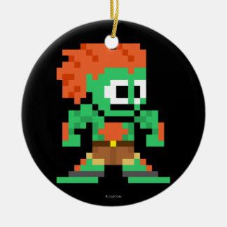 8-Bit Blanka Ceramic Ornament