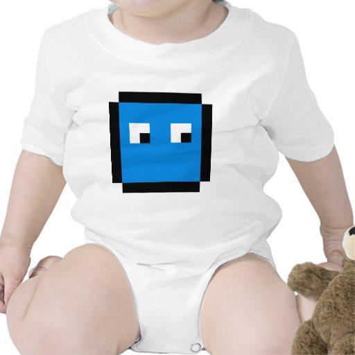 8 bit blue boxie baby bodysuits