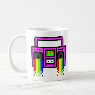 8 Bit Boom Box Coffee Mug