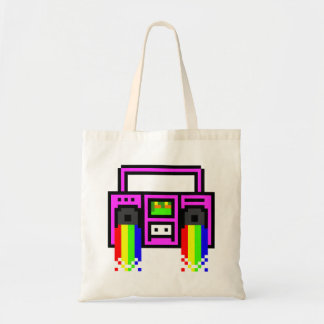 8 Bit Boom Box Tote Bag