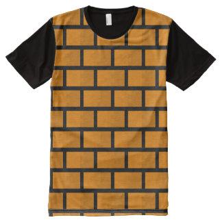 8 Bit Brick Wall All-Over Print T-shirt