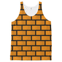 8 Bit Brick Wall All-Over-Print Tank Top
