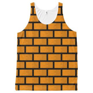 8 Bit Brick Wall All-Over-Print Tank Top