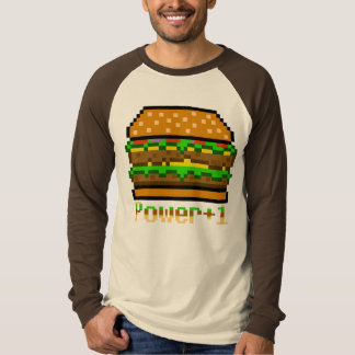 8-bit Burger Power Up T-shirt