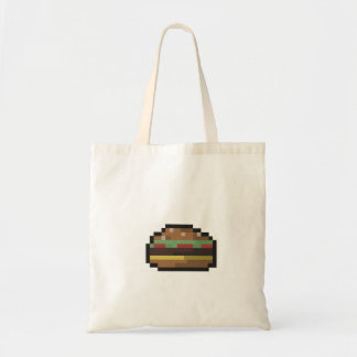 8 Bit Burger Tote Bag