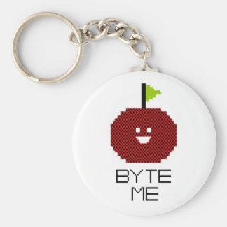 8-Bit Byte Me Cute Apple Pixel Art Keychains