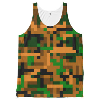 8 Bit Camouflage All-Over-Print Tank Top