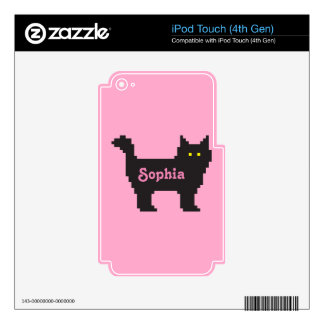 8-Bit Cat Decals For iPod Touch 4G