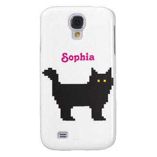 8-Bit Cat Galaxy S4 Case