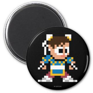 8-Bit Chun-Li 2 Inch Round Magnet