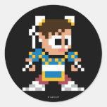 8-Bit Chun-Li Classic Round Sticker