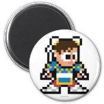 8-Bit Chun-Li Refrigerator Magnet