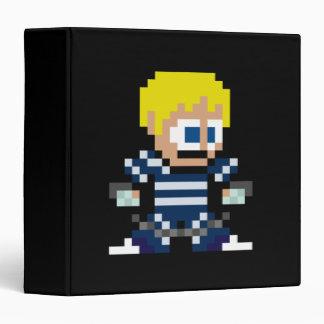 8-Bit Cody 3 Ring Binder