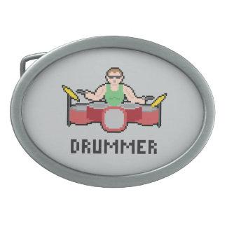 8 Bit Drummer Belt Buckle