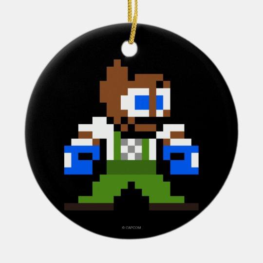8-Bit Dudley Ceramic Ornament