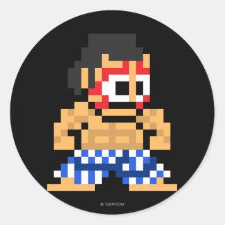 8-Bit E. Honda Classic Round Sticker