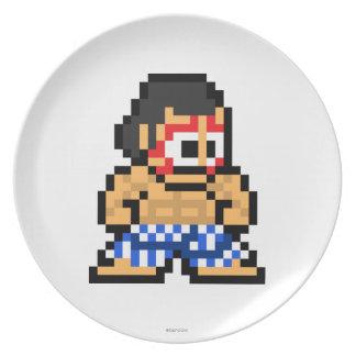8-Bit E. Honda Party Plate