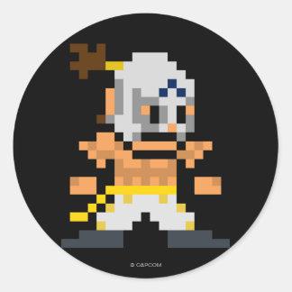 8-Bit El Fuerte Classic Round Sticker