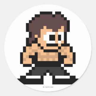 8-Bit Fei Long Classic Round Sticker