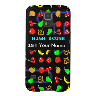 8 Bit Fruit Video Game Galaxy S5 Cover