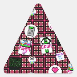 8 Bit Geek Triangle Sticker
