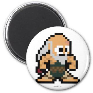 8-Bit Gouken 2 Inch Round Magnet