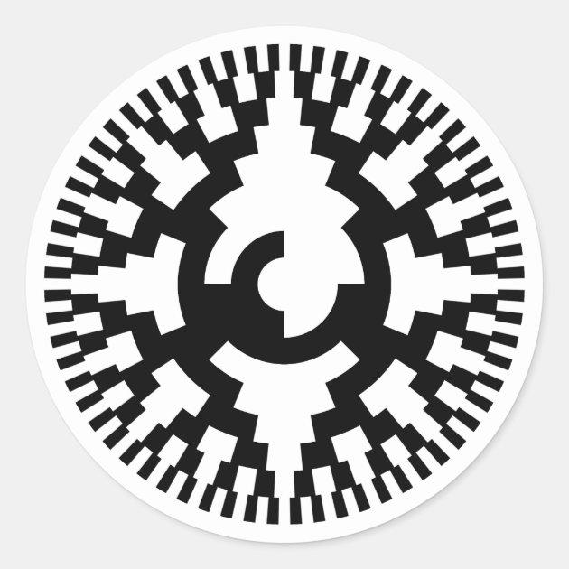 8 Bit Gray Code Rotary Encoder Classic Round Sticker