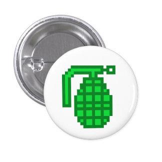 8 Bit Grenade Pinback Button