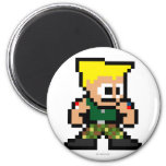 8-Bit Guile 2 Inch Round Magnet