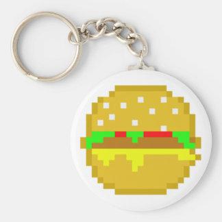 8 Bit Hamburger Keychain
