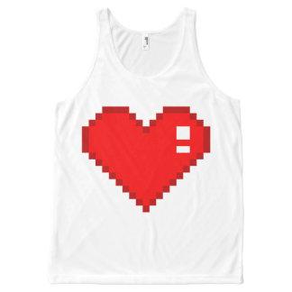 8 Bit Heart All-Over-Print Tank Top