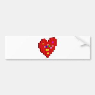 8-Bit Heart Bumper Sticker