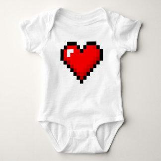 8-Bit Heart: Classic Retro Gamer Baby Bodysuit