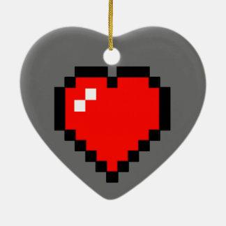 8 - Bit Heart (Full) Ceramic Ornament