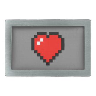 8 - Bit Heart (Full) Rectangular Belt Buckle