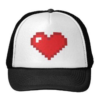 8 Bit Heart Hats
