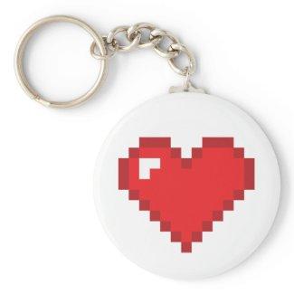 8 Bit Heart Key Chains